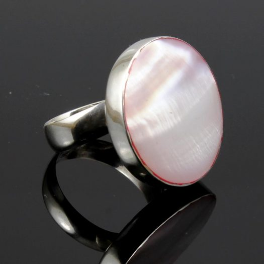 Pink Mother-of-Pearl Ring R-0214-f