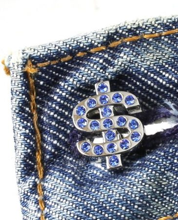 Blue Rhinestone Cufflinks G-0104-a (Copy)