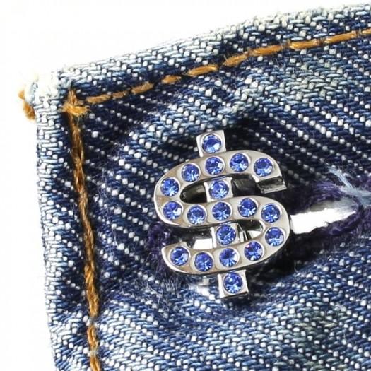 Blue Rhinestone Cufflinks G-0104-a (Copy)