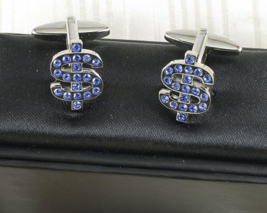 Blue Rhinestone Cufflinks G-0104-c (Copy)