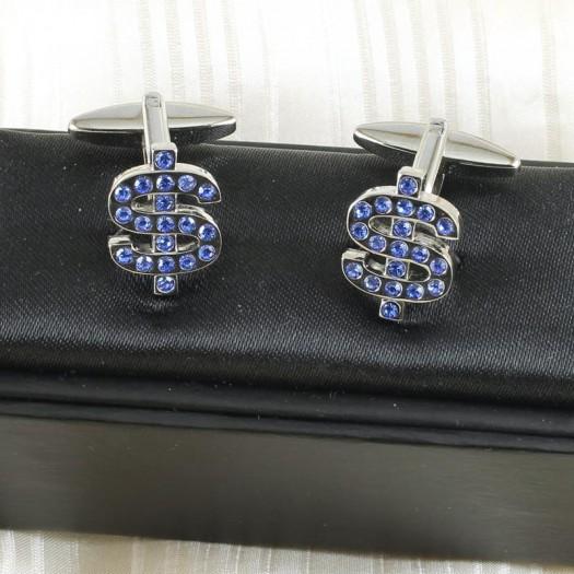 Blue Rhinestone Cufflinks G-0104-c (Copy)