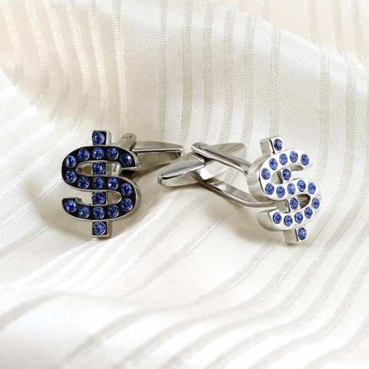 Blue Rhinestone Cufflinks G-0104-d (Copy)