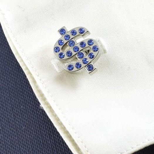 Blue Rhinestone Cufflinks G-0104-f (Copy)