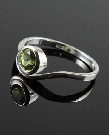 Peridot Bypass  Ring R-0220-a