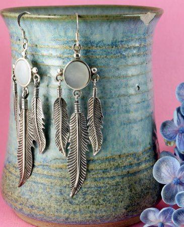 Moonstone Tribal Earrings E-0105-d