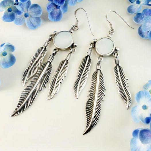 Moonstone Tribal Earrings E-0105-g
