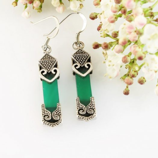 Aventurine & Silver Earrings E-0140-a