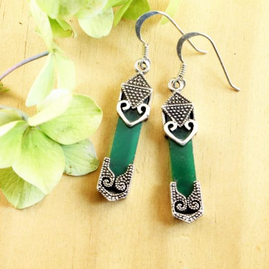 Aventurine & Silver Earrings E-0140-d