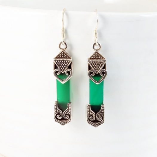 Aventurine & Silver Earrings E-0140-e