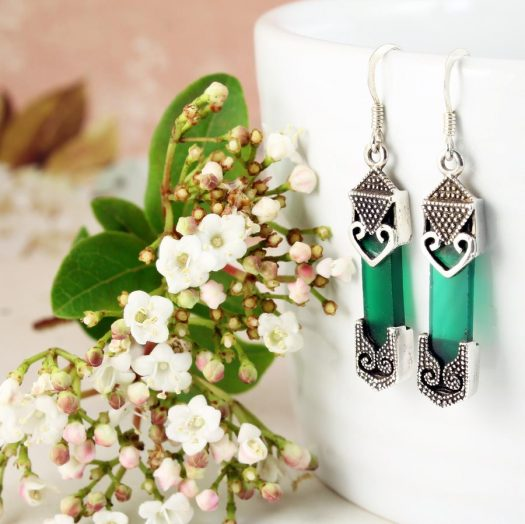 Aventurine & Silver Earrings E-0140-f