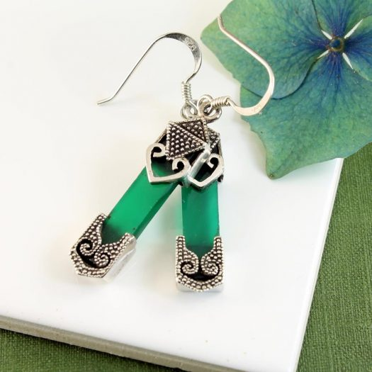Aventurine & Silver Earrings E-0140-i