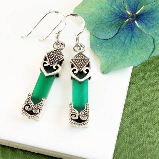 Aventurine & Silver Earrings E-0140-j