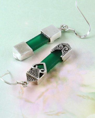 Aventurine & Silver Earrings E-0140-l