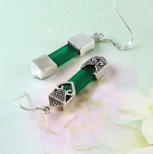 Aventurine & Silver Earrings E-0140-l