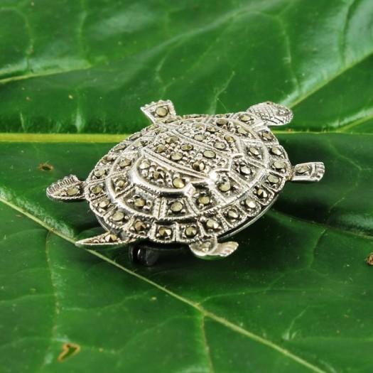 Vintage_Marcasite_&_Silver_Turtle_Brooch- (Copy)