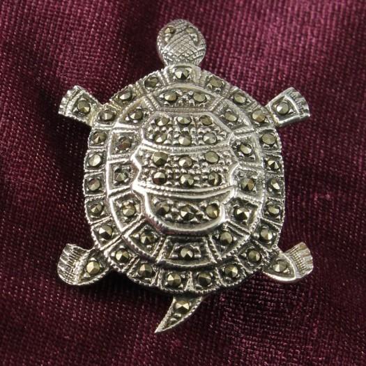 Vintage_Marcasite_&_Silver_Turtle_Brooch-G-0105-a (Copy)