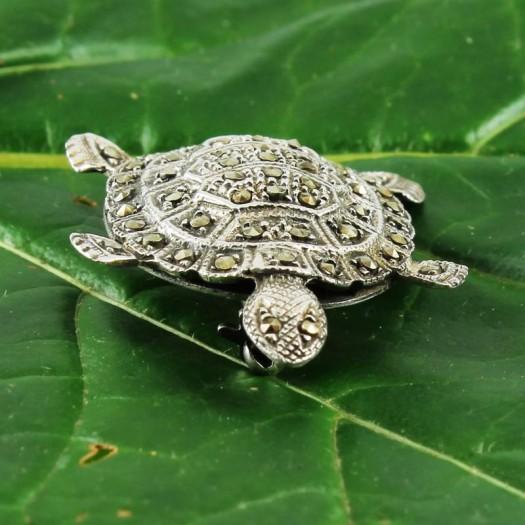Vintage_Marcasite_&_Silver_Turtle_Brooch-G-0105-c (Copy)