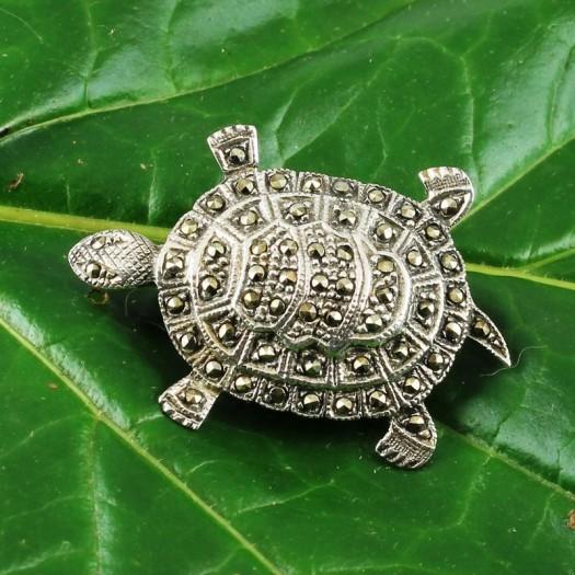 Vintage_Marcasite_&_Silver_Turtle_Brooch-G-0105-e (Copy)