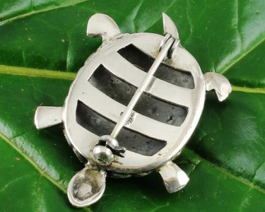 Vintage_Marcasite_&_Silver_Turtle_Brooch-G-0105-g (Copy)