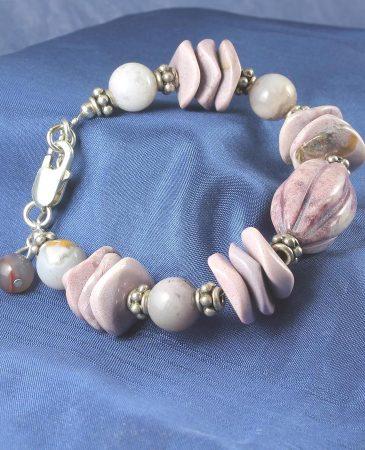 Crazy Lace Agate Bracelet B-0130-d