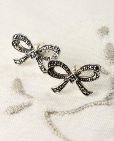Marcasite_Bow_Stud_Earrings_E-0214-a