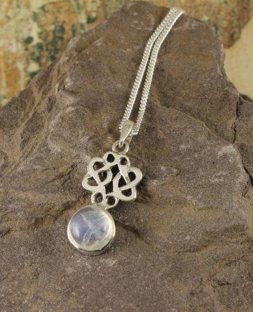 Moonstone Celtic Knot Pendant N-0221-d