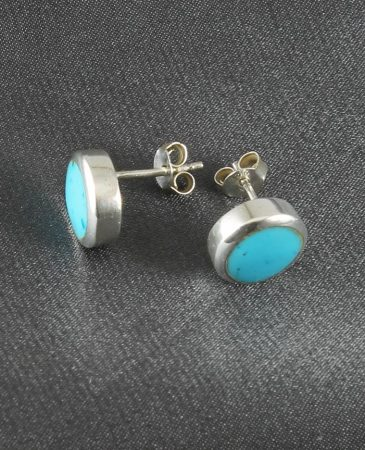 Turquoise_Barrell_Stud_Earrings_E-0208-a