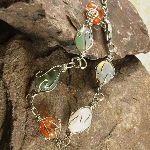 Wire-wrapped_Agate_Bracelet- B-0152-a