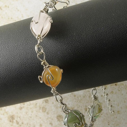 Wire-wrapped_Agate_Bracelet- B-0152-b