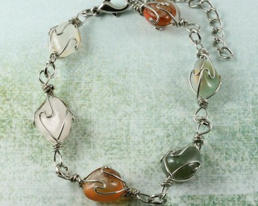 Wire-wrapped_Agate_Bracelet- B-0152-d