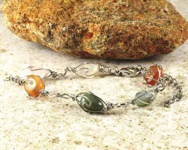 Wire-wrapped_Agate_Bracelet- B-0152-g