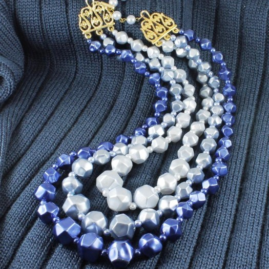Blue-Silver_3-Strand_Vintage_Bead_Necklace_N-0268-b