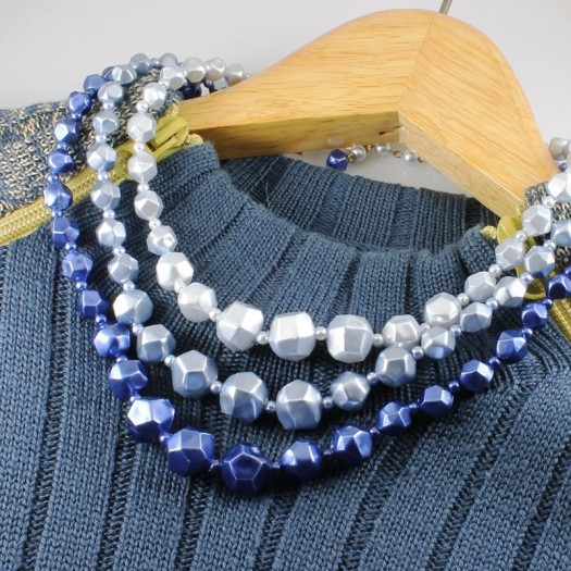 Blue-Silver_3-Strand_Vintage_Bead_Necklace_N-0268-c