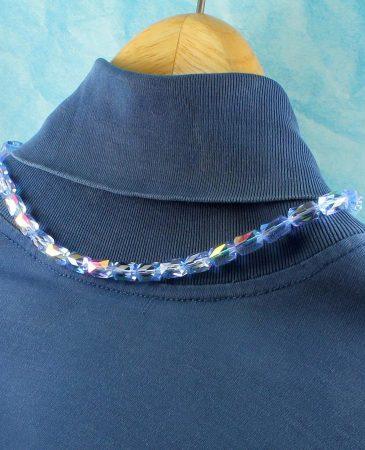 Vintage Blue Swarovski Crystals N-0229-b