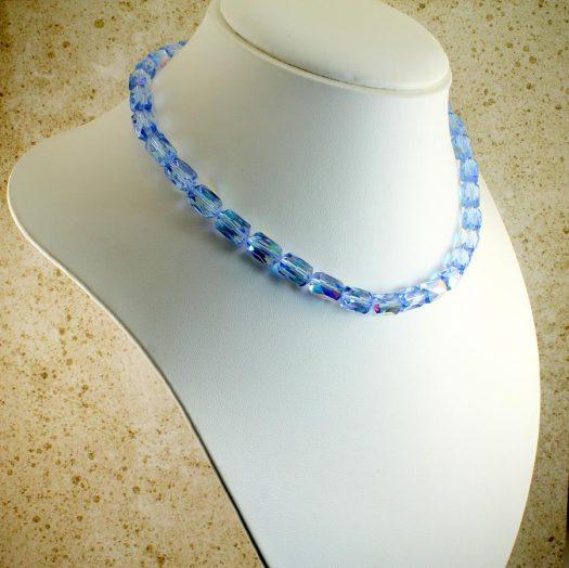 Vintage Blue Swarovski Crystals N-0229-e