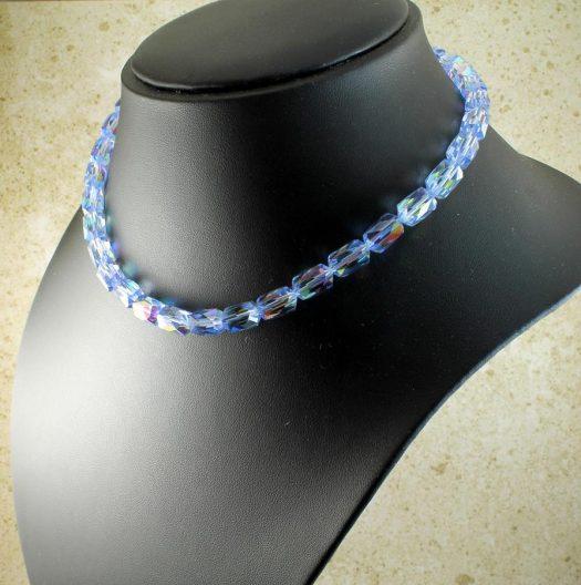 Vintage Blue Swarovski Crystals N-0229-g