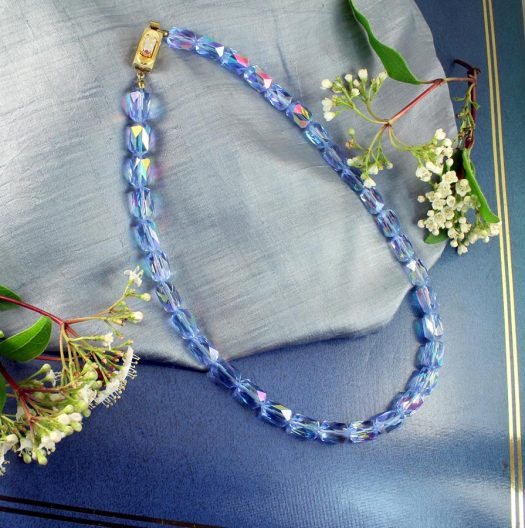 Vintage Blue Swarovski Crystals N-0229-h