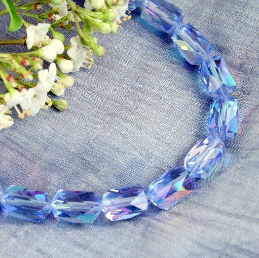 Vintage Blue Swarovski Crystals N-0229-k