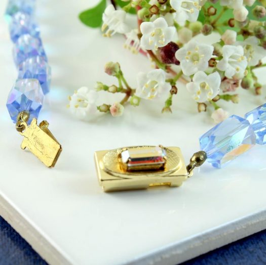 Vintage Blue Swarovski Crystals N-0229-m