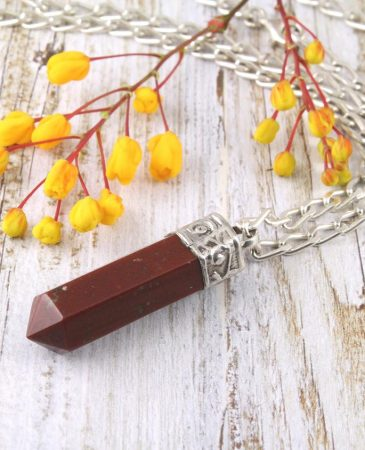 Brown Agate Crystal Point Pendant