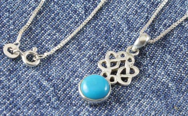 Turquoise Celtic Knot Pendant