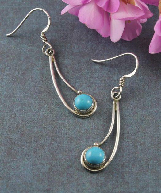 Turquoise Comet Drop Earrings