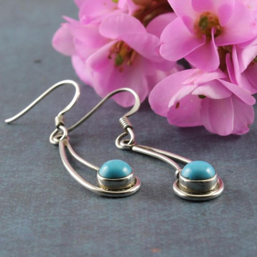 Turquoise Comet Drop Earrings