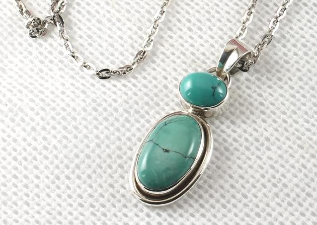 Turquoise Double Gemstone Pendant