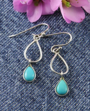 Turquoise Double Teardrop Earrings
