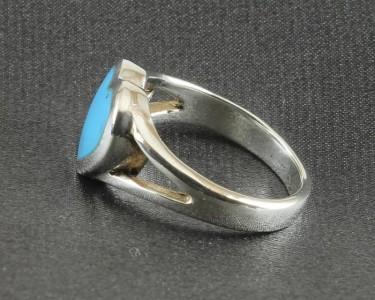 Turquoise Heart Split Shoulder Ring