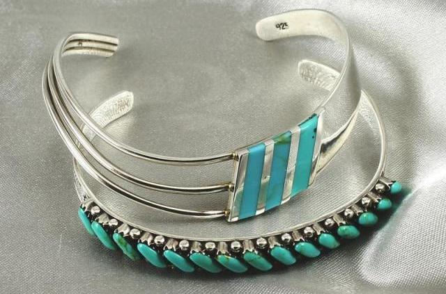 Turquoise Tubes Bangle