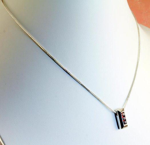 Garnet Slide Pendant N-0213-g
