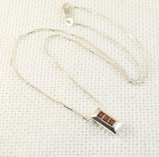Garnet Slide Pendant