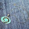 Vintage Turquoise Pendant N-0195-g